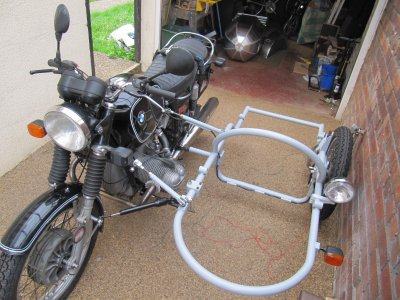 Sidecar Frame Attached To The Motorcycle