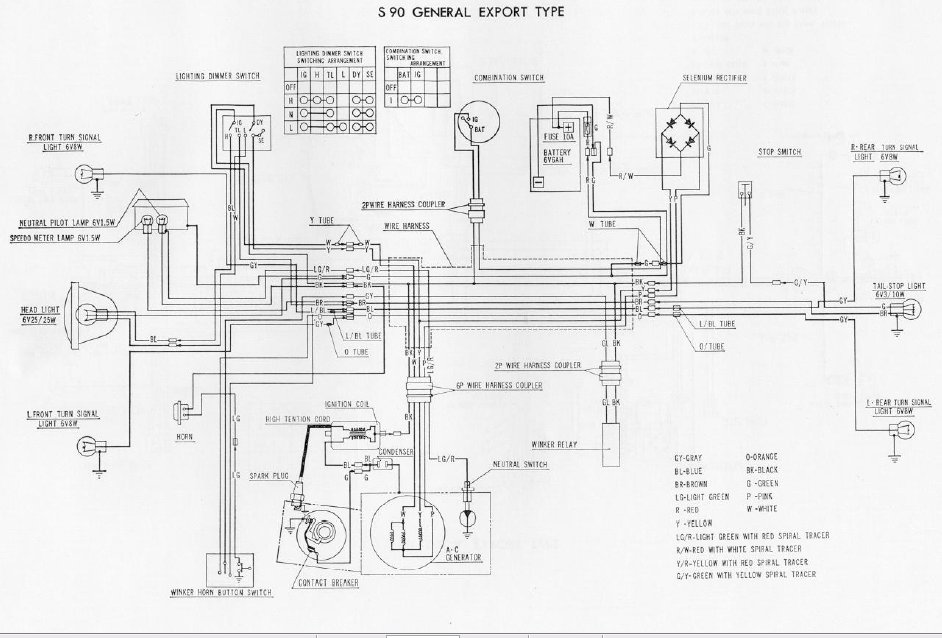 1965 honda s90 wiring diagram   29 wiring diagram images
